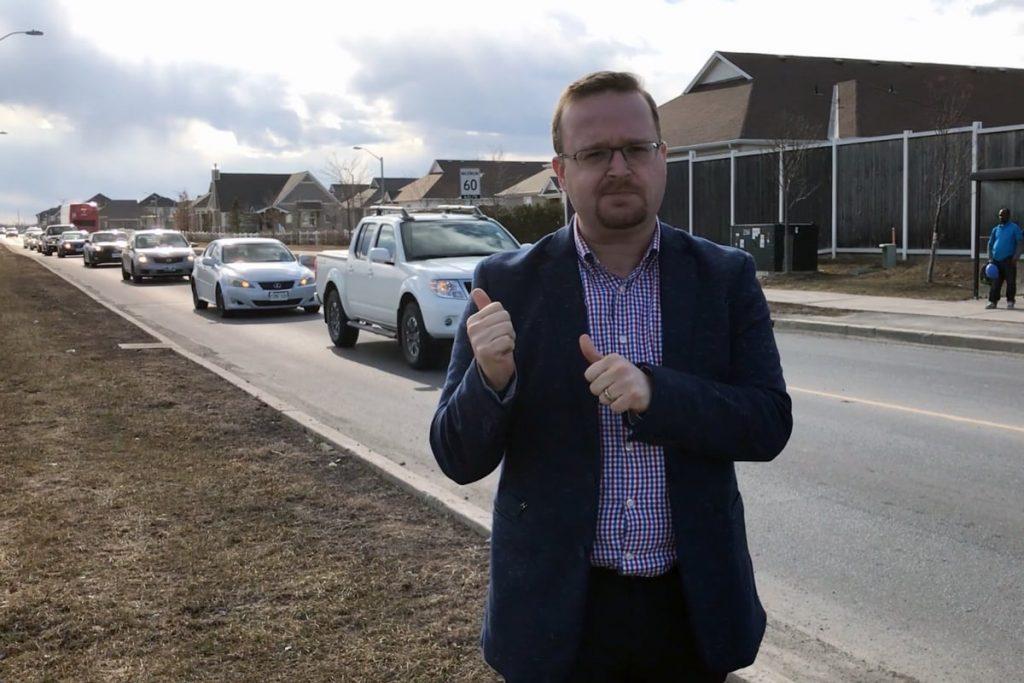 Stephen Blais delivers roundabout