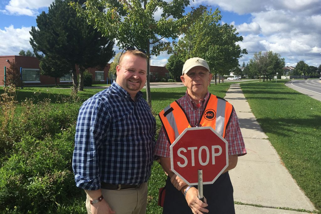 Blais secures new crossing guards