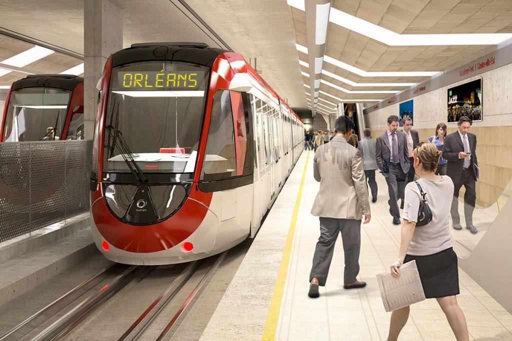 Blais delivers Orléans LRT