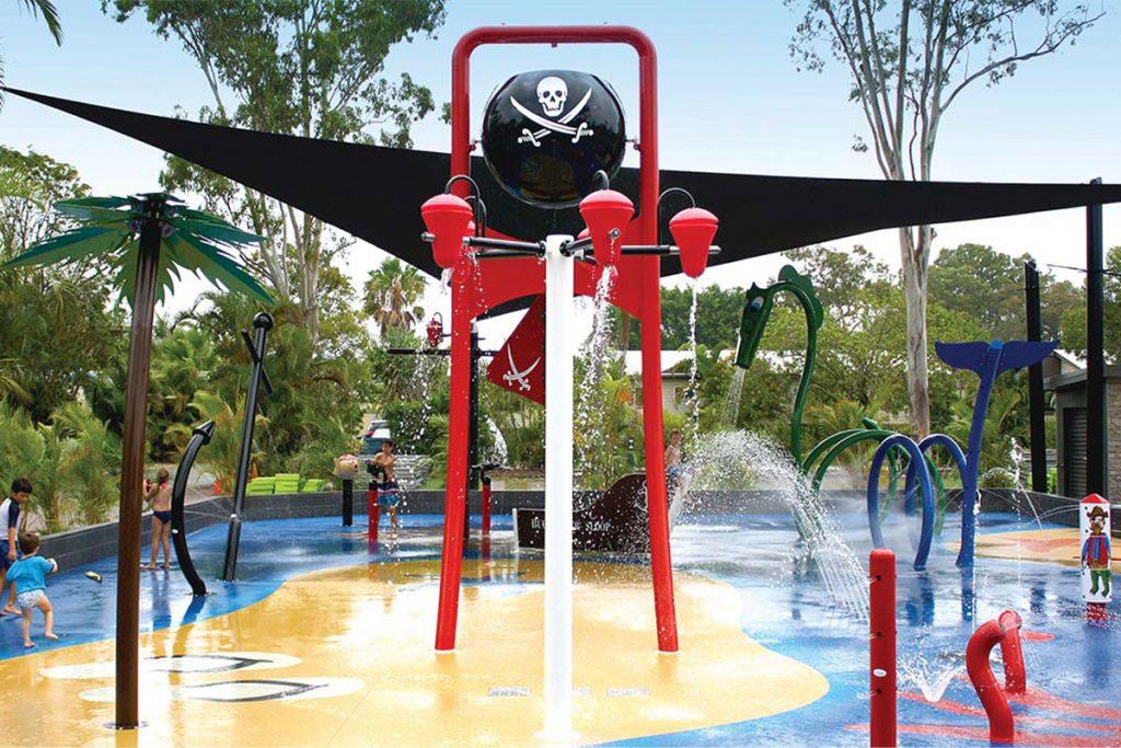 Pirate Splash pad at Millennium Park