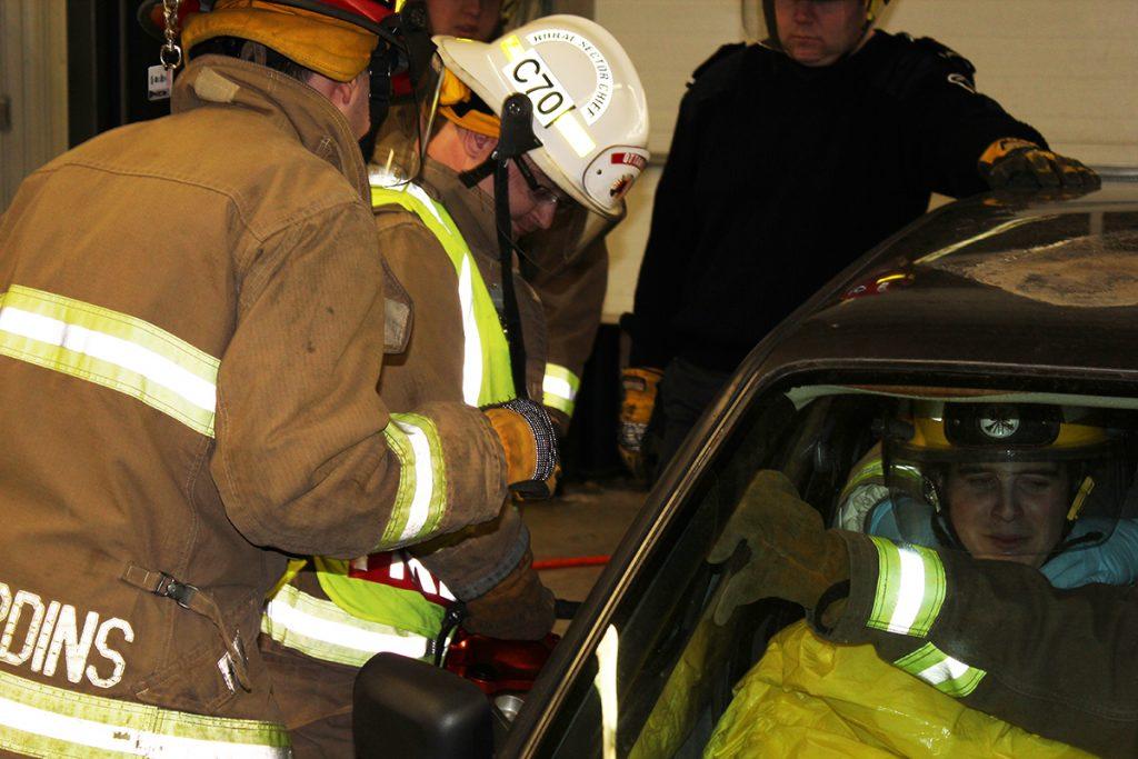 Blais thanks volunteer firefighters