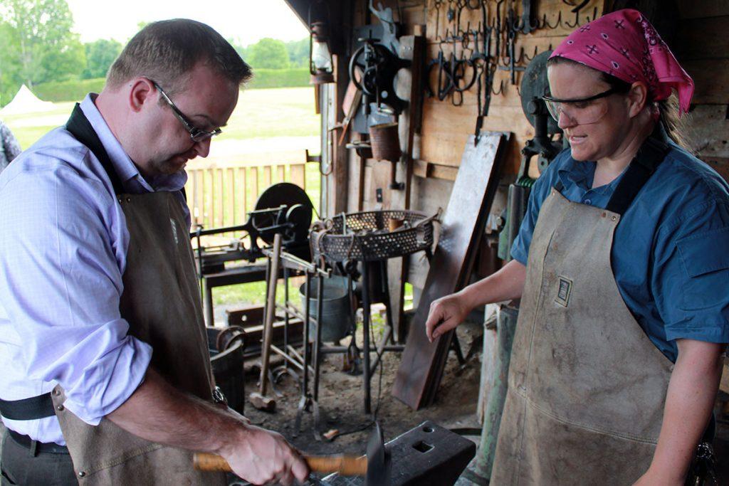 Stephen Blais blacksmith